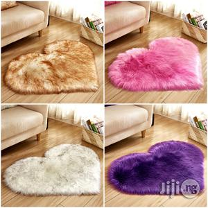 Love Heart Shape Fluffy Non Slip And Super Soft Rug   Home Accessories for sale in Lagos State, Ogba