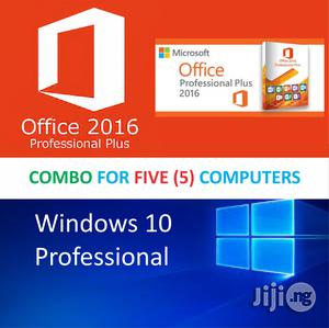 Microsoft Windows 10 Pro - Original License For 5 PCS (Key + DVD) | Software for sale in Lagos State