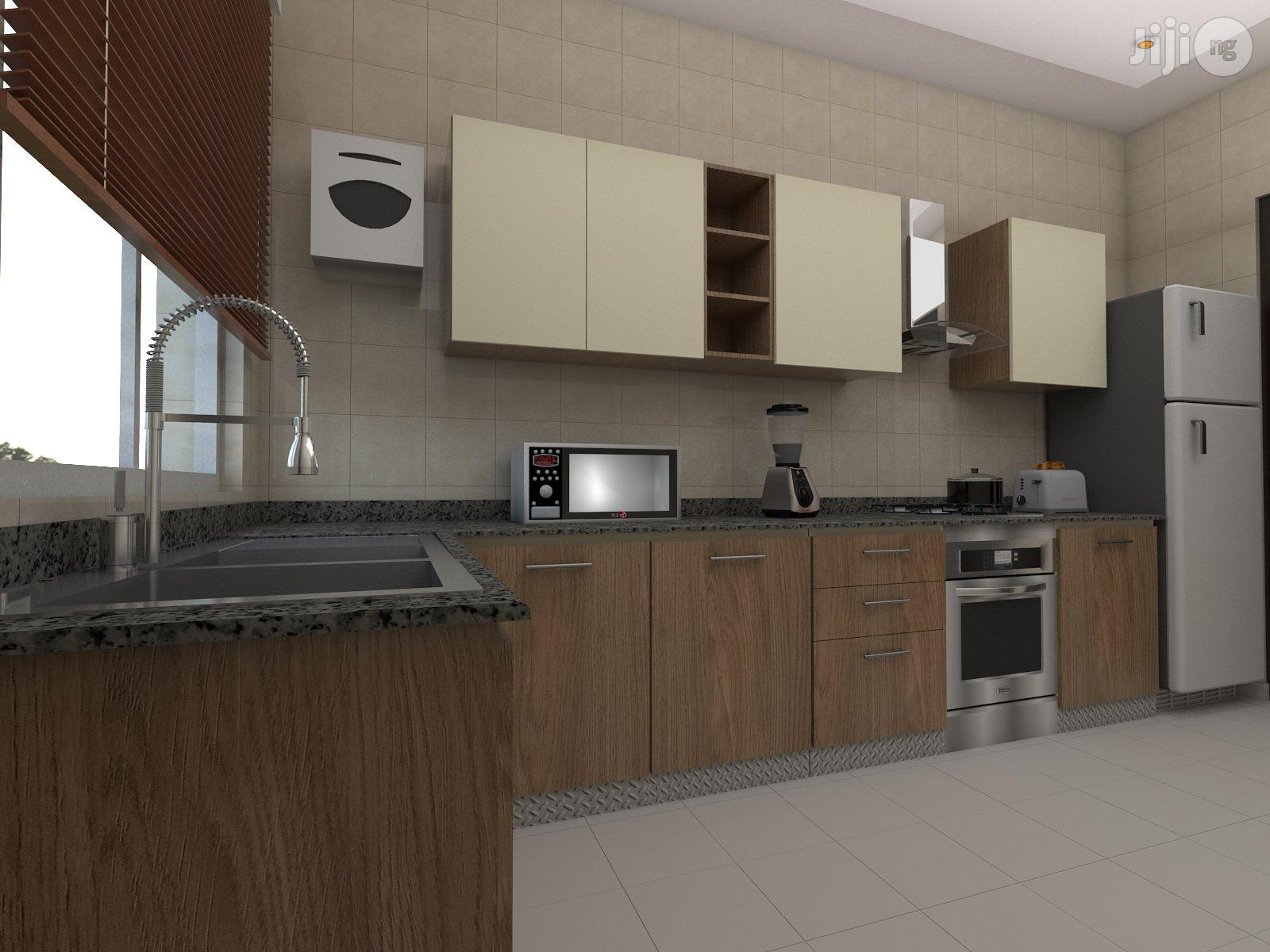 Archive: Double Colored Cabinets Kitchen Made With Hdf