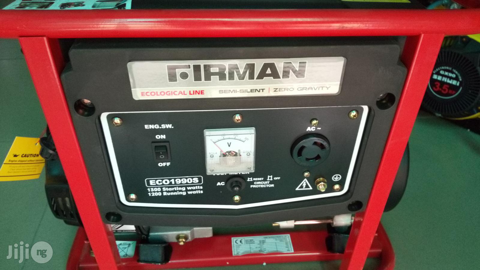 Firman ECO 1990S Petrol Generator | Electrical Equipment for sale in Kubwa, Abuja (FCT) State, Nigeria