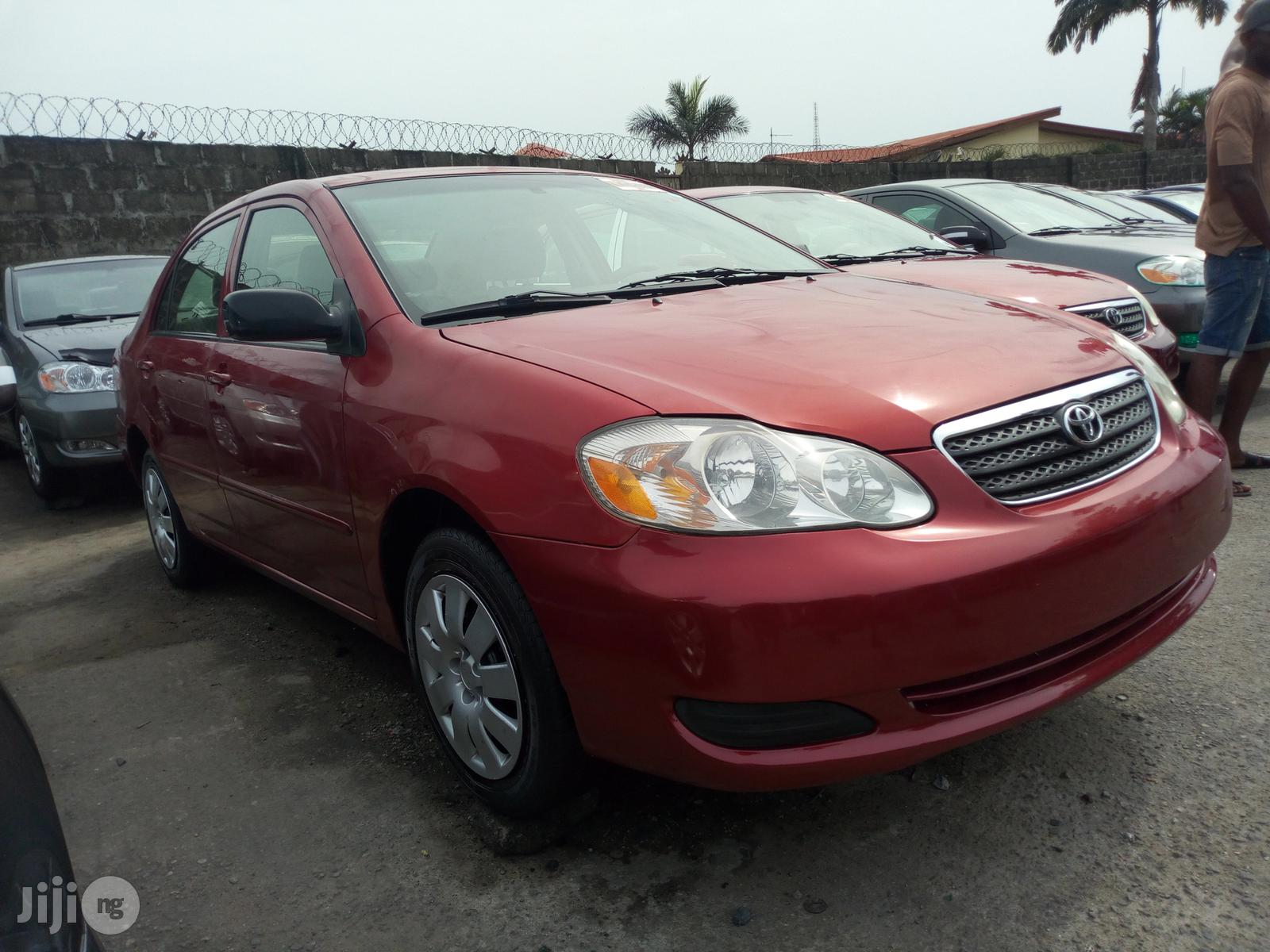 Toyota Corolla 2007 Red | Cars for sale in Apapa, Lagos State, Nigeria
