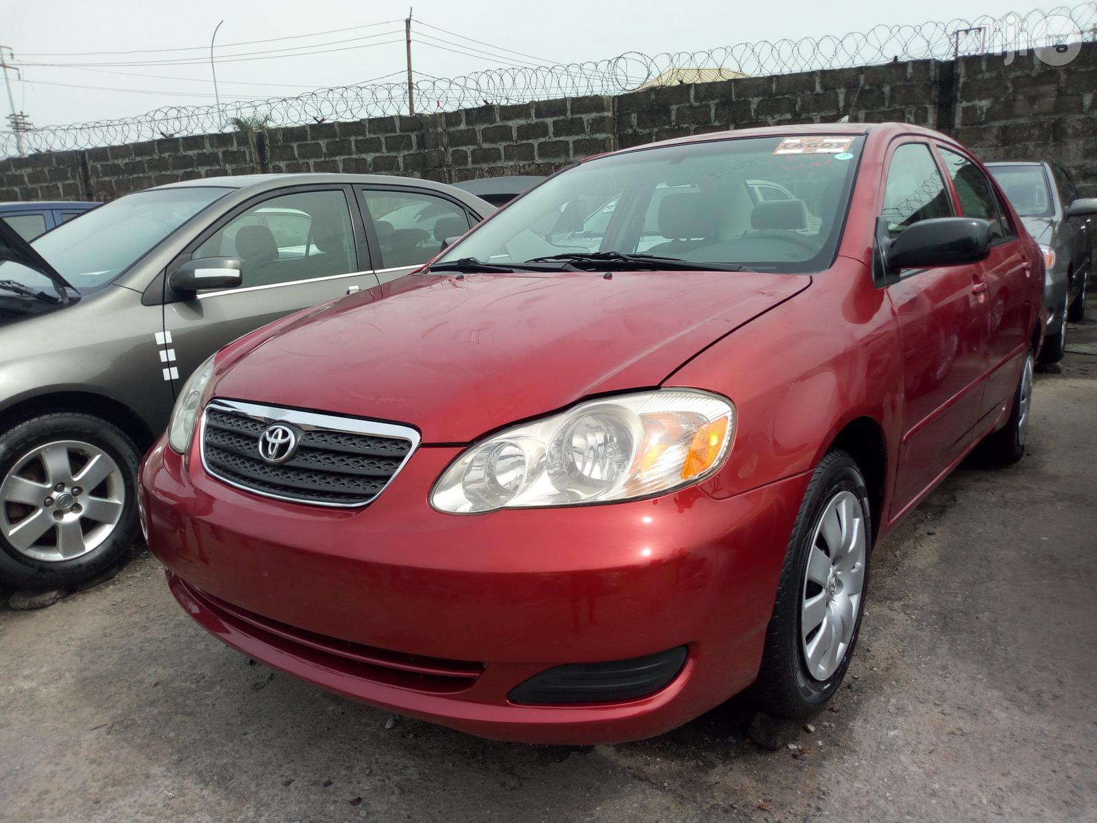 Toyota Corolla 2007 Red