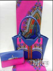 Gorgeous Ankara Bag With 6yards Wax And Purse Imported Xi | Bags for sale in Delta State, Ugheli