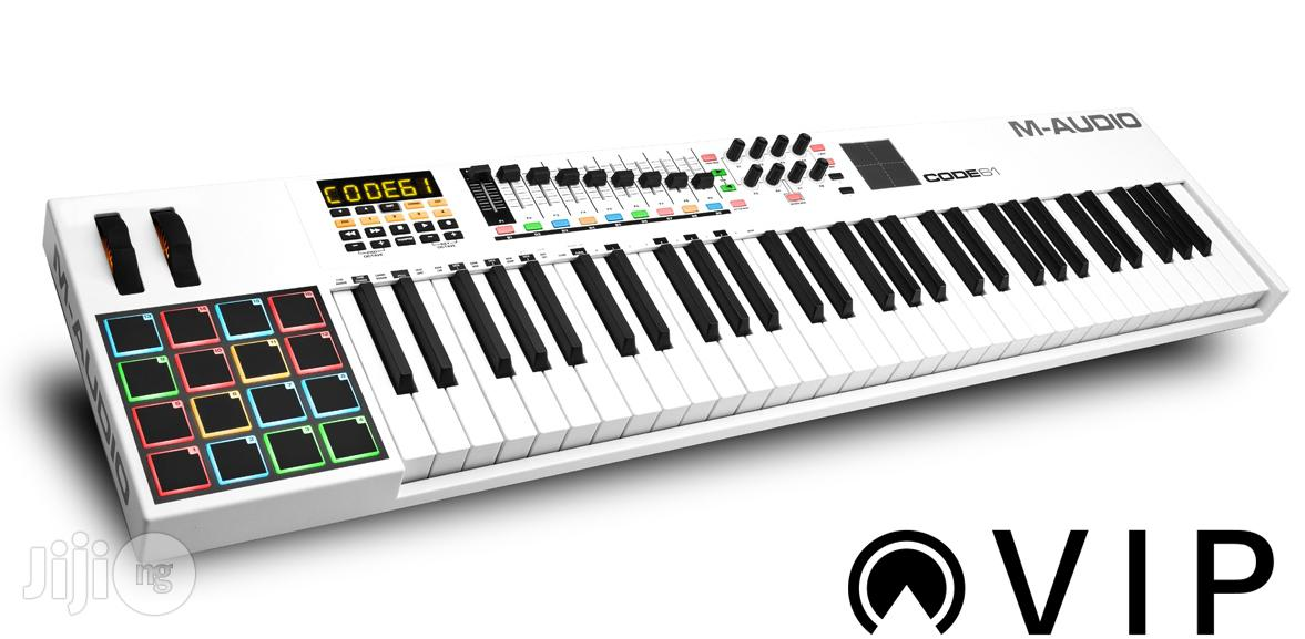 Code 61 Usb Midi Keyboard Controller With X/Y Touch Pad - White