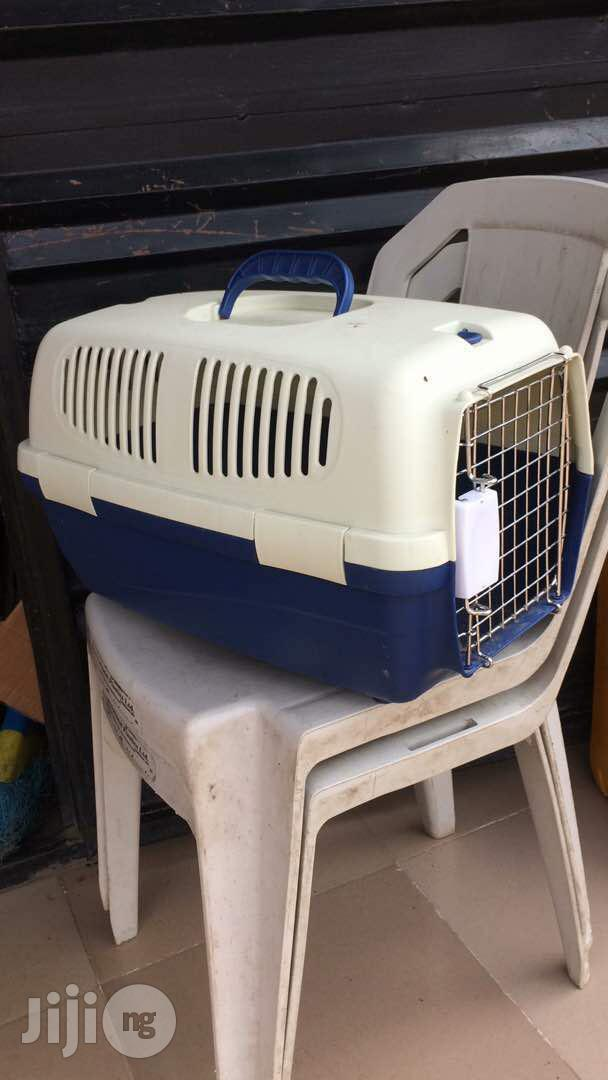Dogs Plastic Cage Or Crate For Transporting Dogs | Pet's Accessories for sale in Agege, Lagos State, Nigeria