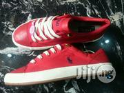 Red on White-Sole Polo Ralph Lauren Sneakers | Shoes for sale in Lagos State, Lagos Island