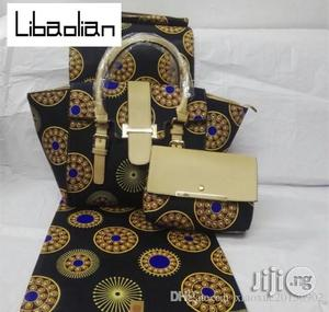 High Fabric 6yards Wax and Ankara Bag With Purse Imported Iii | Bags for sale in Gombe State, Gombe LGA