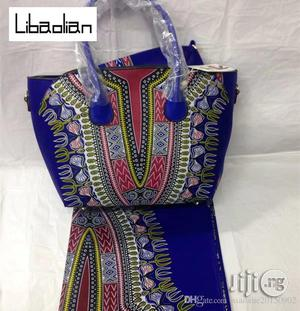 High Fabric 6yards Wax and Ankara Bag With Purse Imported Vi | Bags for sale in Gombe State, Gombe LGA