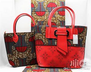 High Fabric 6yards Wax and Ankara Bag With Purse Imported Xvi | Bags for sale in Jigawa State, Dutse-Jigawa