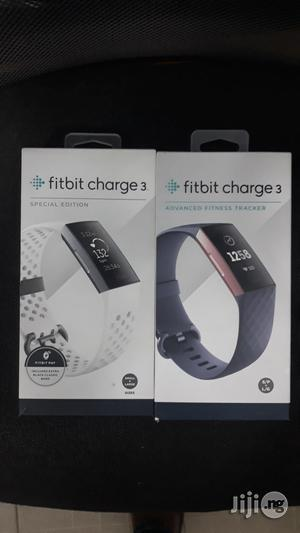 Fitbit Charge 3 Fitness Activity Tracker, Graphite/Black. | Smart Watches & Trackers for sale in Lagos State, Ikeja