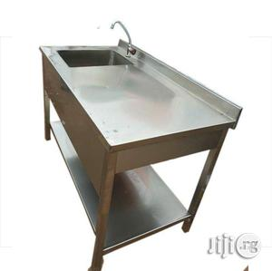 Stainless Single Sink Work Table With Work Table | Restaurant & Catering Equipment for sale in Lagos State, Surulere