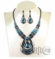 Gemstone Necklace Drop Set Earrings Clavicle Chain | Jewelry for sale in Lagos State, Ojo