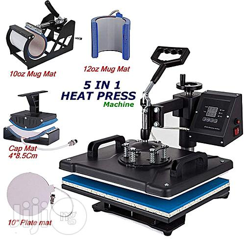 5 In 1 Digital Heat Press - Transfer Machine