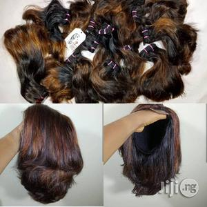 Super Double Drawn Luxury Human Hair Wig With Kim K Closure | Hair Beauty for sale in Lagos State, Ikeja