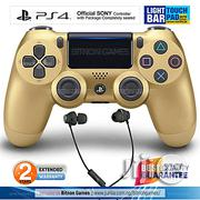 Sony PS4 Controller With Touchpad Lightbar+Gaming Headset - Gold   Accessories & Supplies for Electronics for sale in Abuja (FCT) State, Maitama