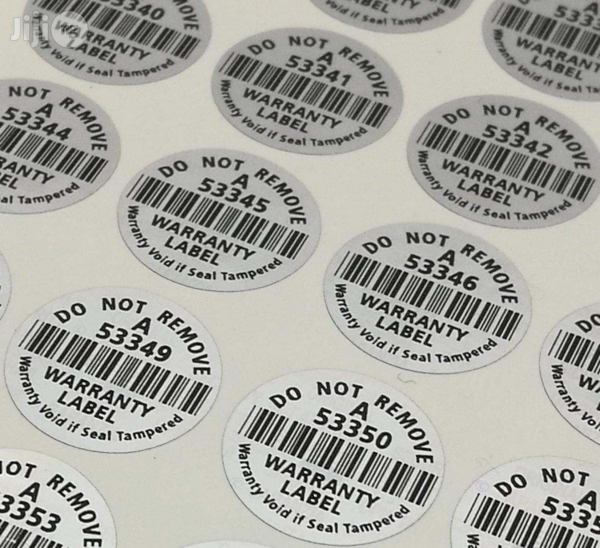 Secured Stickers And Labels Printing | Printing Services for sale in Agege, Lagos State, Nigeria