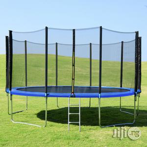 10ft Trampoline With Ladder And Enclosure Net   Sports Equipment for sale in Rivers State, Port-Harcourt