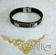 Leather/Chain Silver Bracelet for Men's | Jewelry for sale in Lagos State, Lagos Island
