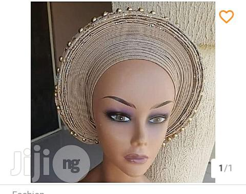 Auto Gele With Pearls And Stones