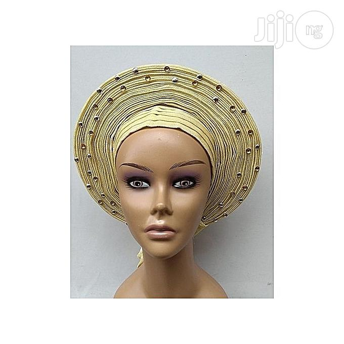 Auto Gele With Pearls And Stones | Clothing Accessories for sale in Lagos State, Nigeria