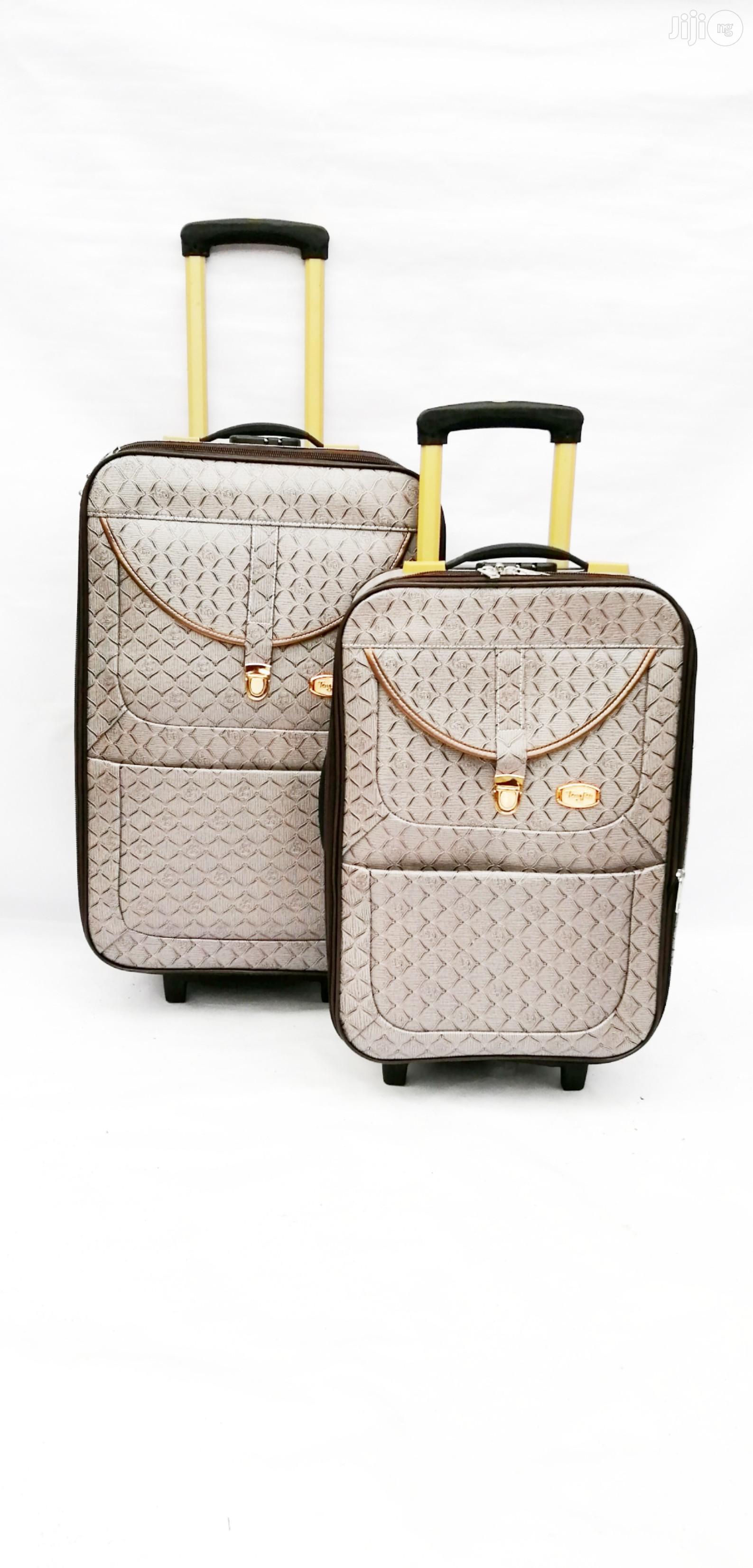 2 Wheel Luggage Set for Travel Storage