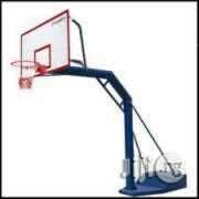Standard Iron Basketball Post Available At Favour Sports Shop   Sports Equipment for sale in Rivers State, Port-Harcourt