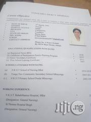 Healthcare & Nursing CV | Healthcare & Nursing CVs for sale in Benue State, Vandeikya