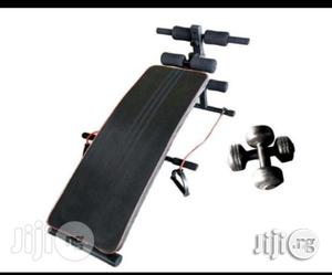 Sit Up Bench With Dumbell and Resistant Rope | Sports Equipment for sale in Lagos State