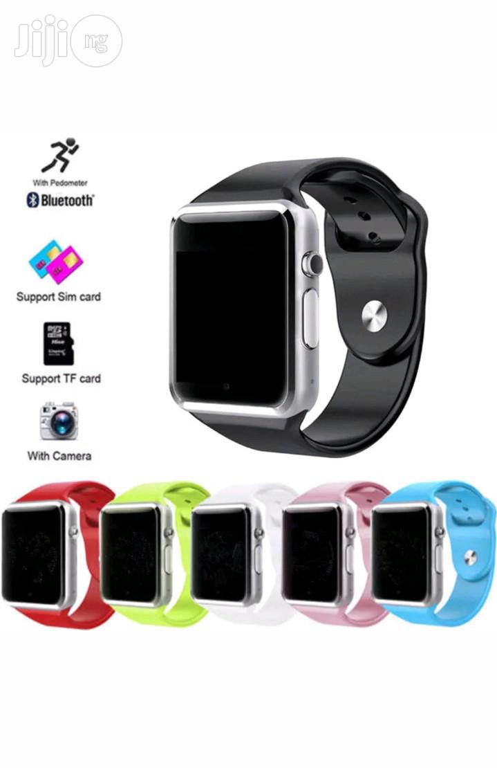 Bluetooth Smart Watch A1 GSM Phone for Android and iPhone | Smart Watches & Trackers for sale in Benin City, Edo State, Nigeria