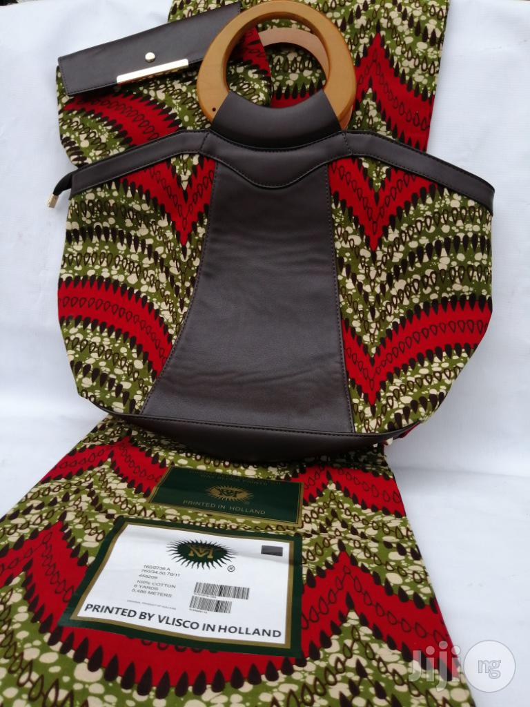 Archive: Italian Made Ankara Bags With 6yards Wax And Purse Viii