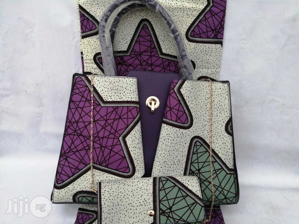 Italian Made Ankara Bags With 6yards Wax and Purse Xv