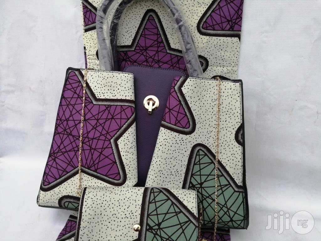 Italian Made Ankara Bags With 6yards Wax and Purse Xvi