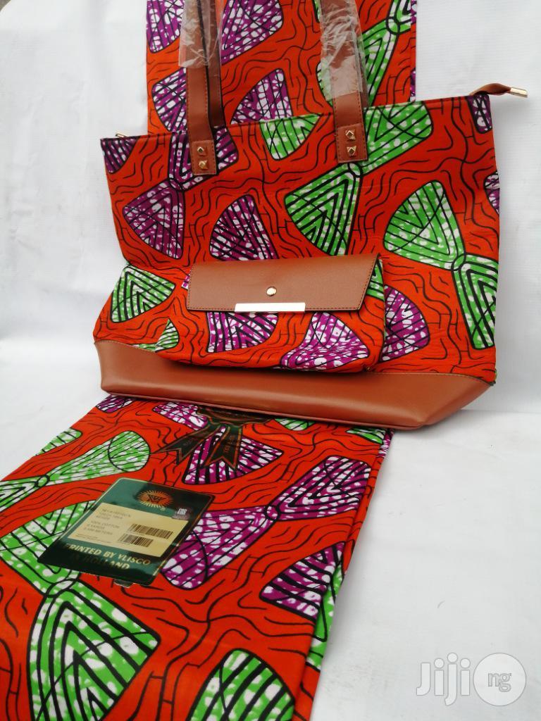 Italian Made Ankara Bags With 6yards Wax And Purse Xl