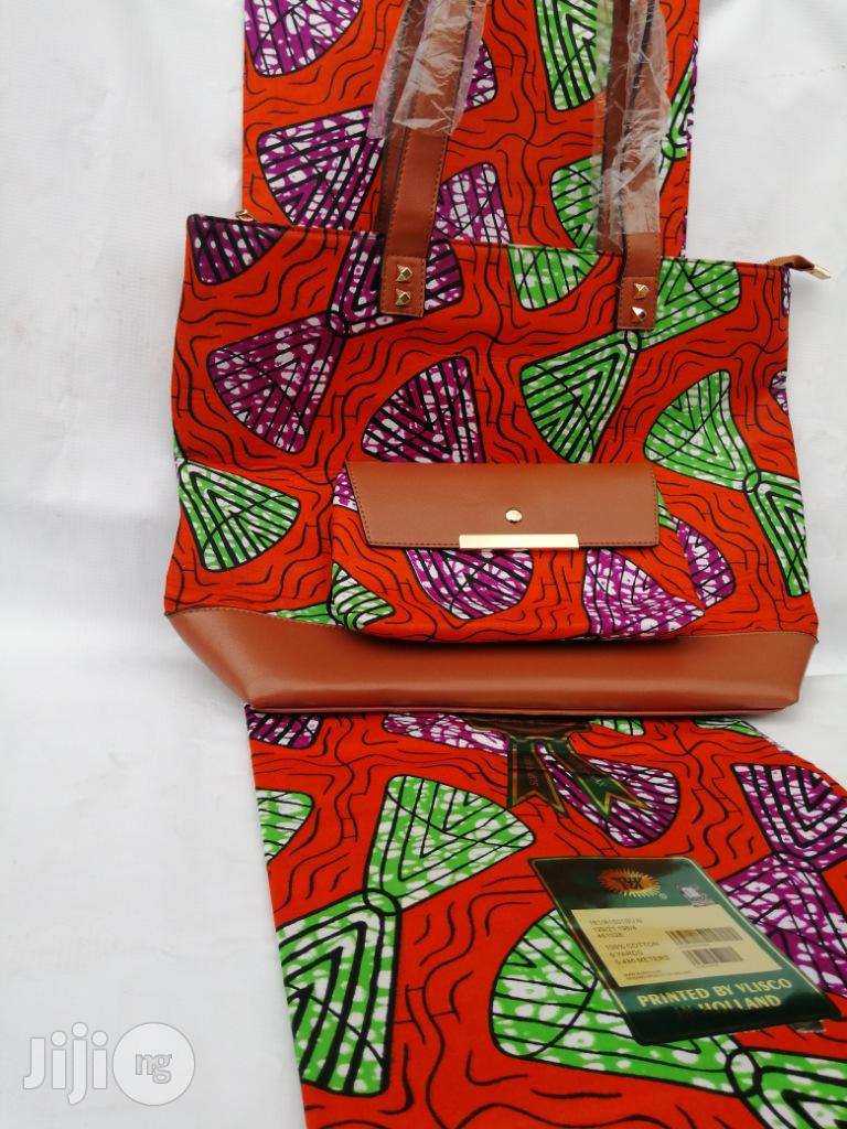 Italian Made Ankara Bags With 6yards Wax and Purse Xli