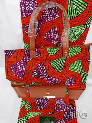 Italian Made Ankara Bags With 6yards Wax and Purse Xlv | Bags for sale in Kaduna State, Kaduna / Kaduna State