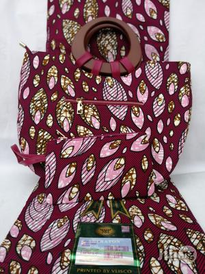 Italian Made Ankara Bags With 6yards Wax And Purse Xlvii | Bags for sale in Kano State, Kano Municipal