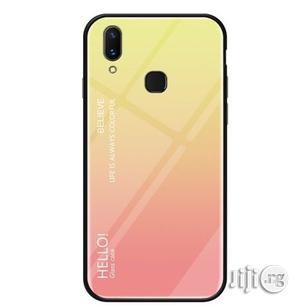 Huawei Y9 (2019) Gradient Color Glass Protective Back Case (Yellow)   Accessories for Mobile Phones & Tablets for sale in Lagos State, Ikeja