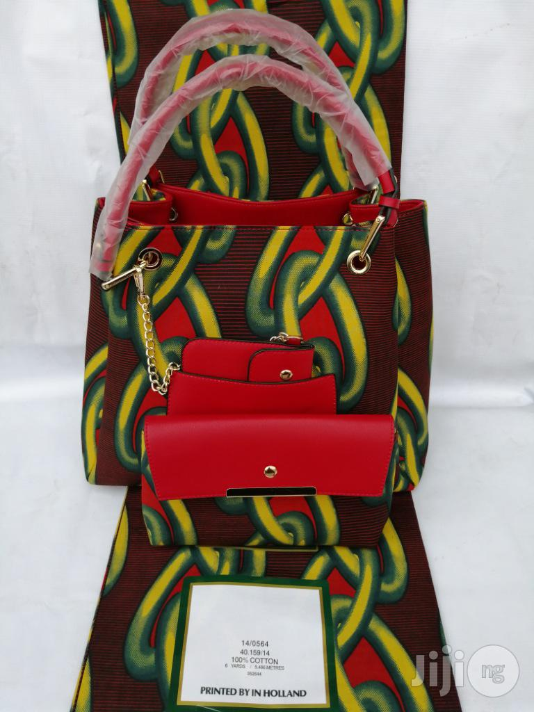 Italian Made Ankara Bags With 6yards Wax And Purse