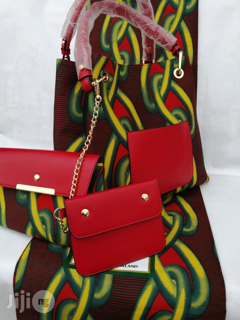 Italian Made Ankara Bags With 6yards Wax and Purse.Needed #Re-Seller/Bulk Buyers Xv