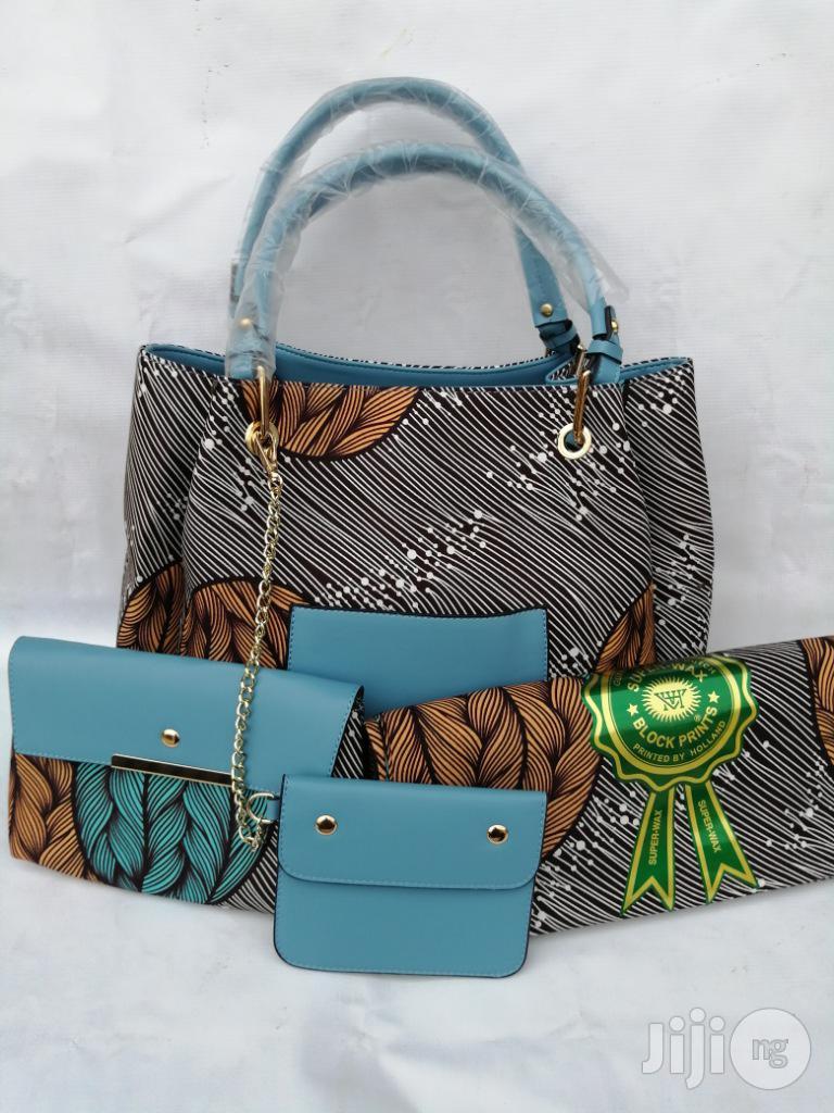 Italian Made Ankara Bags With 6yards Wax and Purse.Needed #Re-Seller/Bulk Buyers Xx