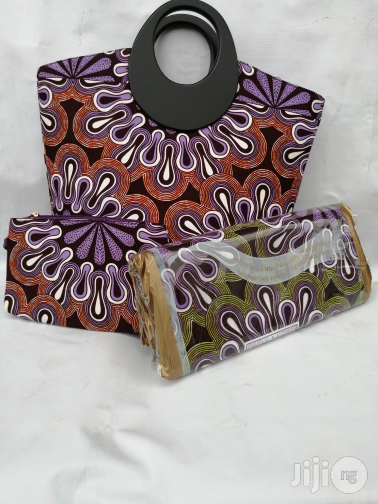 Italian Made Ankara Bags With 6yards Wax And Purse.Needed #Re-seller/Bulk Buyers Xlix