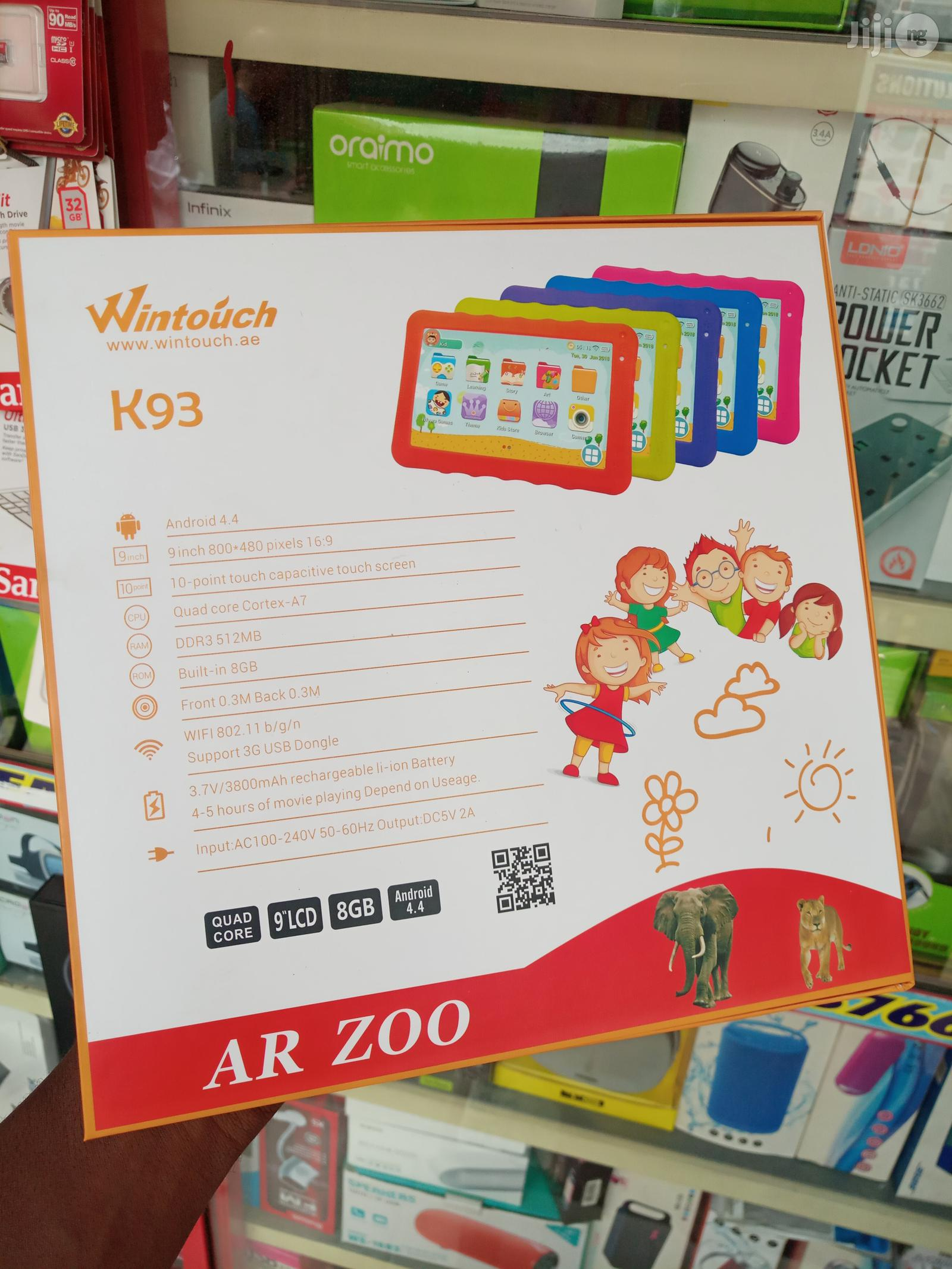 Children Pad Wintouch K93 9 Inchest 3G 8 Gb | Toys for sale in Ikeja, Lagos State, Nigeria