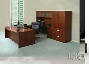 Executive Office Table With File Shelf | Furniture for sale in Lagos State, Ikeja