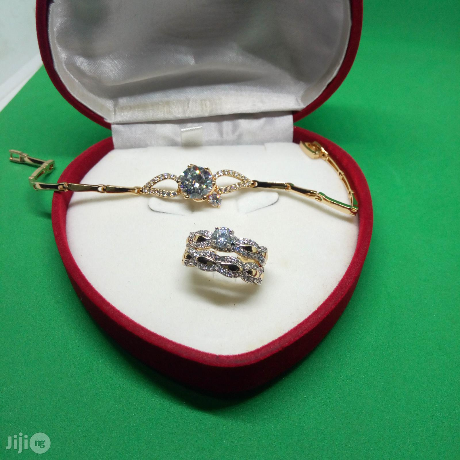 Angel Scot Engagement, Wedding Ring Hand Chain - (Silver Rose Gold)