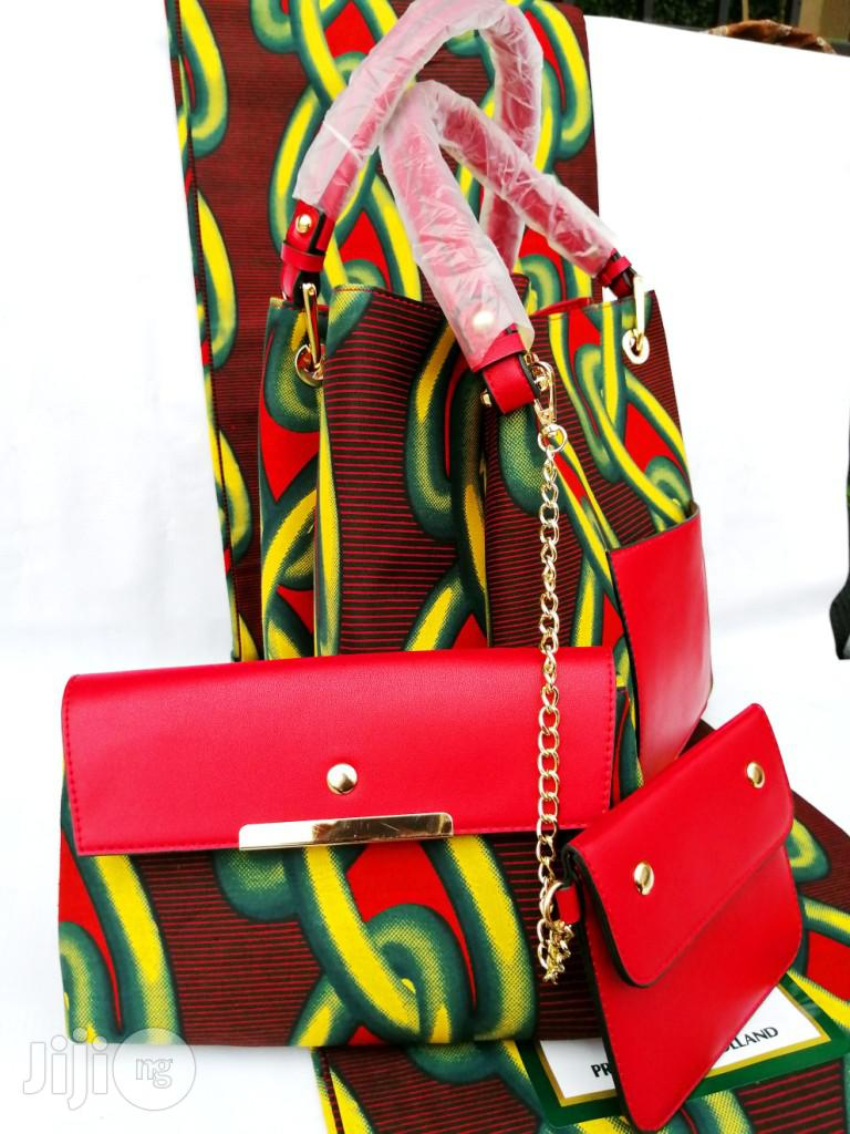 Archive: Quality Ankara Bag With 6yrds Wax And Purse On A Discount Price As A Bulk Buyer Vii