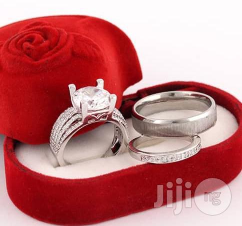 Bold Diamond Stone Wedding Set