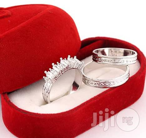 Classic Sterling Silver Wedding Ring Set