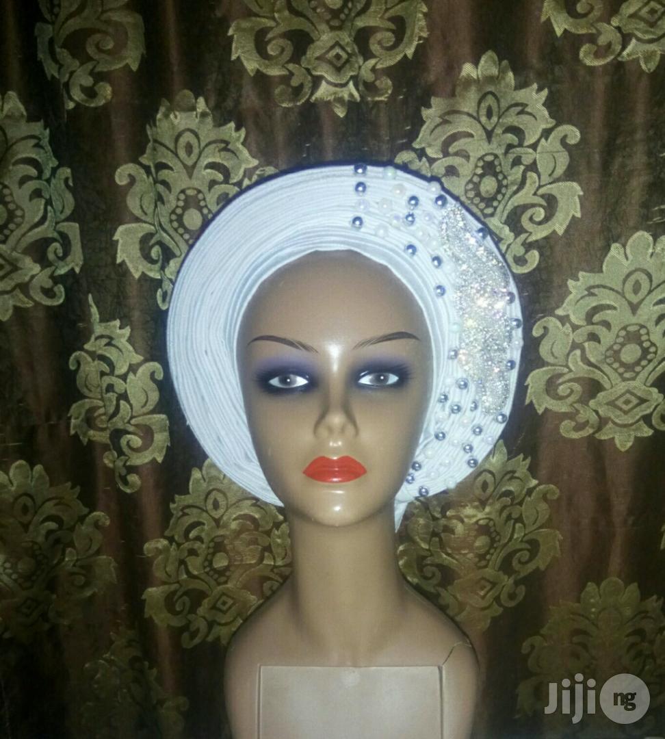 Embelish Aso Oke Gele   Clothing for sale in Kubwa, Abuja (FCT) State, Nigeria