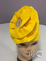 Yellow Beaded Turban Cap   Clothing Accessories for sale in Lagos State, Gbagada