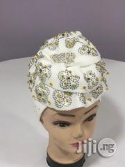 White Beaded Turban Cap | Clothing Accessories for sale in Lagos State, Ikeja